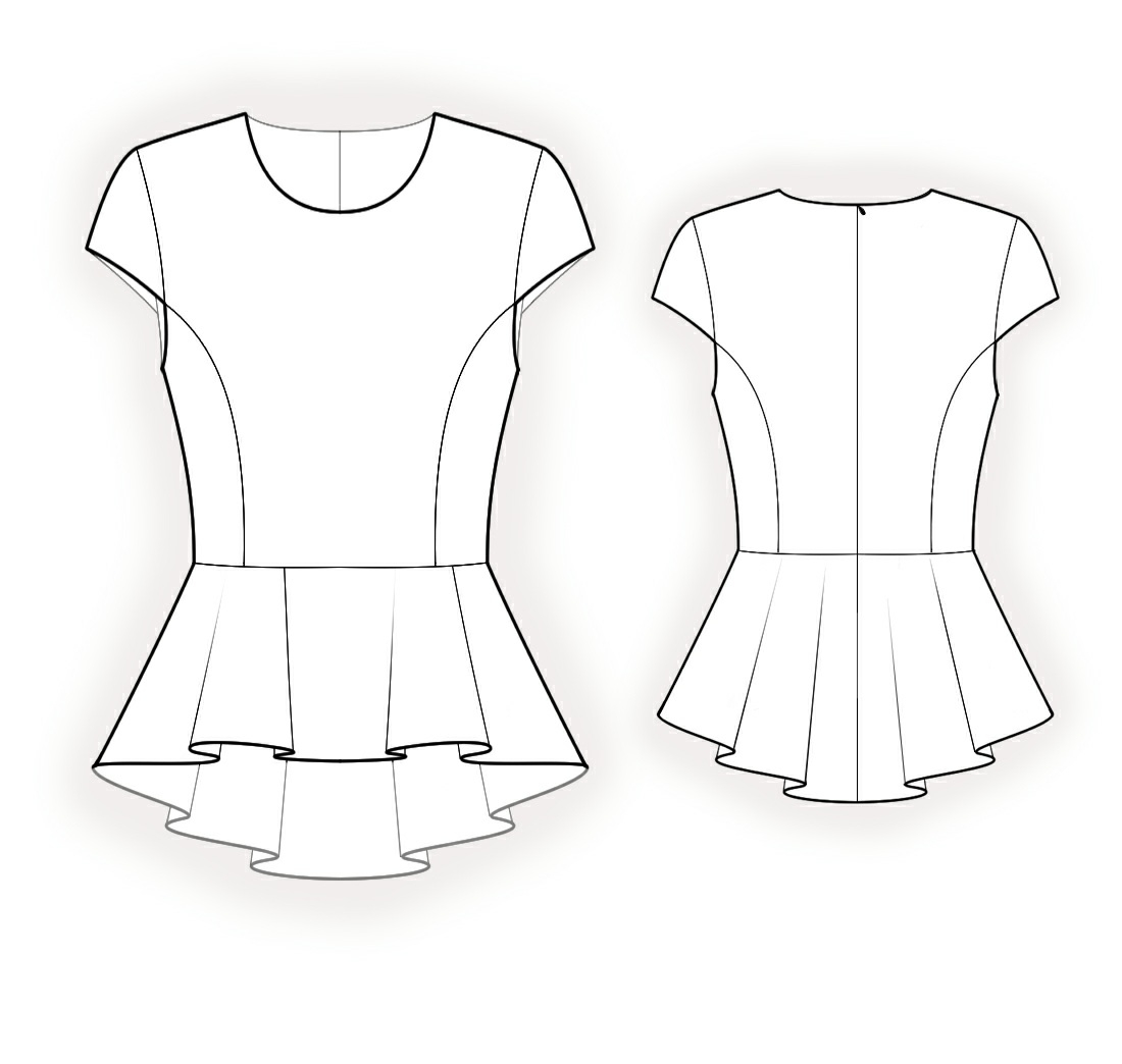 Sewing Tshirt Pattern Blouse With Peplum Sewing Pattern 4177 Made To Measure Sewing