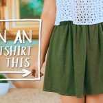 Sewing Upcycled Clothing Easy Diy Diy Clothes Hack Transform A Tshirt Into A Skirt Easy Sewing