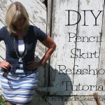 Sewing Upcycled Clothing Easy Diy Diy Pencil Skirt Refashion The Renegade Seamstress