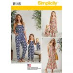 Simplicity Sewing Patterns Matching Outfits For Misses Child And 18 Inch Doll Simplicity