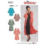 Simplicity Sewing Patterns Misses Kimonos Simplicity Sewing Pattern 8553 Sew Essential