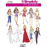 Simplicity Sewing Patterns Simplicity Doll Clothes Sewing Pattern 4702 Hobcraft