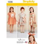 Simplicity Sewing Patterns Simplicity Sewing Pattern Girls Dress And Accessories Hobcraft