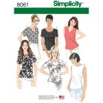 Simplicity Sewing Patterns Simplicity Womens Tops Sizes 16 To 24 Sewing Pattern 8061 Hobcraft