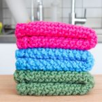 Washcloth Knitting Pattern Free Easy Knit Dishcloth Washcloth 3 Steps With Pictures