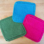 Washcloth Knitting Pattern Simple Easy Knit Dishcloth Washcloth 3 Steps With Pictures