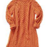 Aran Knitting Patterns Free Free Knitting Pattern For Honeycomb Aran Sweater Dress Knitting
