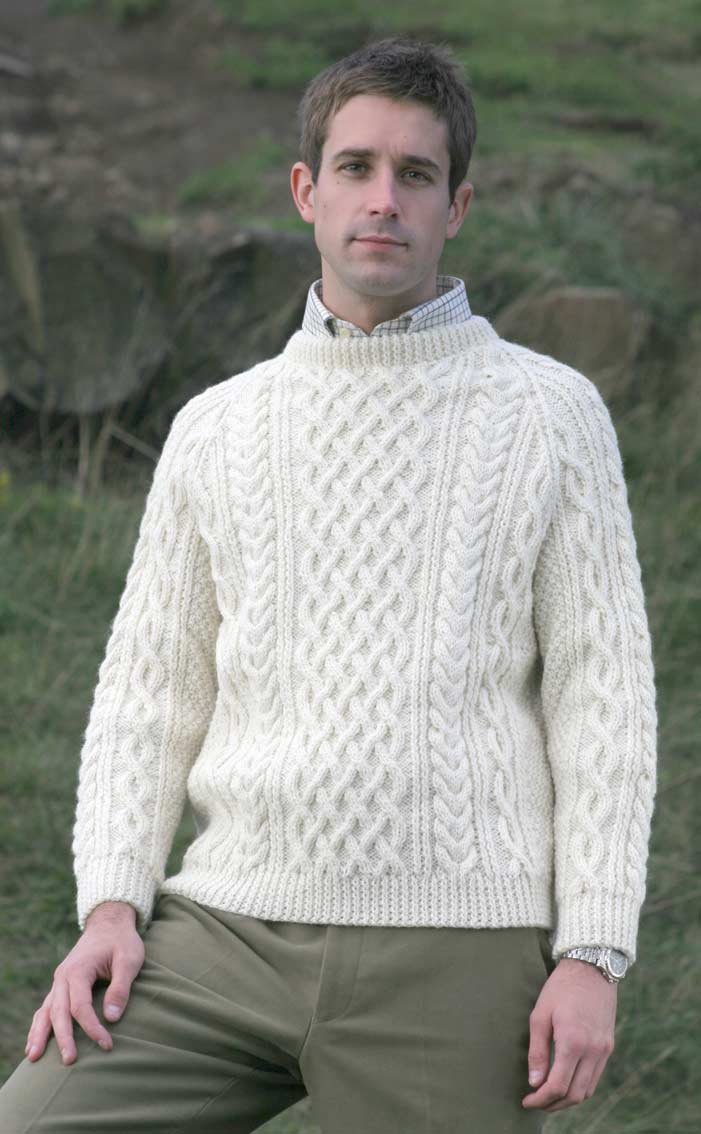 Aran Knitting Patterns Free Gents Hand Knitted Luxury Aran Sweater Torridon Scotweb