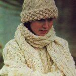 Aran Knitting Patterns Free Instant Download Pdf Vintage Knitting Pattern Aran Sweater Hat Scarf