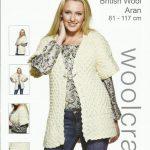 Aran Knitting Patterns Free Woolcraft Ladies Waistcoat Aran Knitting Pattern 1019
