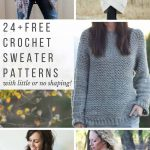 Begginer Crochet Patterns Free 24 Super Easy Free Crochet Sweater Patterns Make Do Crew