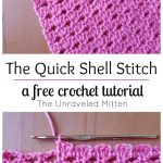 Begginer Crochet Patterns Free The Quick Shell Stitch A Crochet Tutorial Pinterest Free