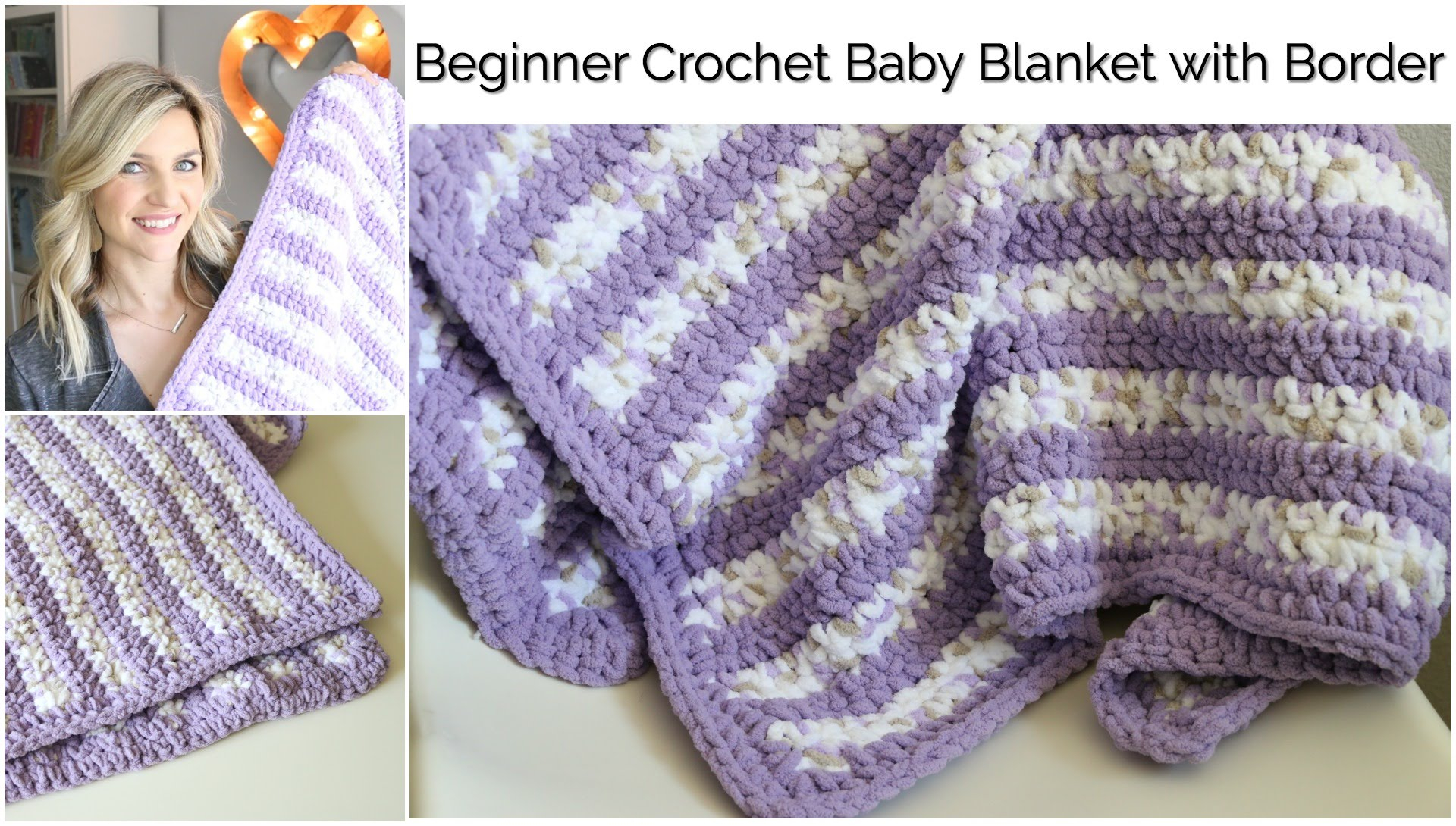 Begginer Crochet Projects Baby Blankets Beginner Crochet Ba Stripes Blanket With Borderba Series Youtube