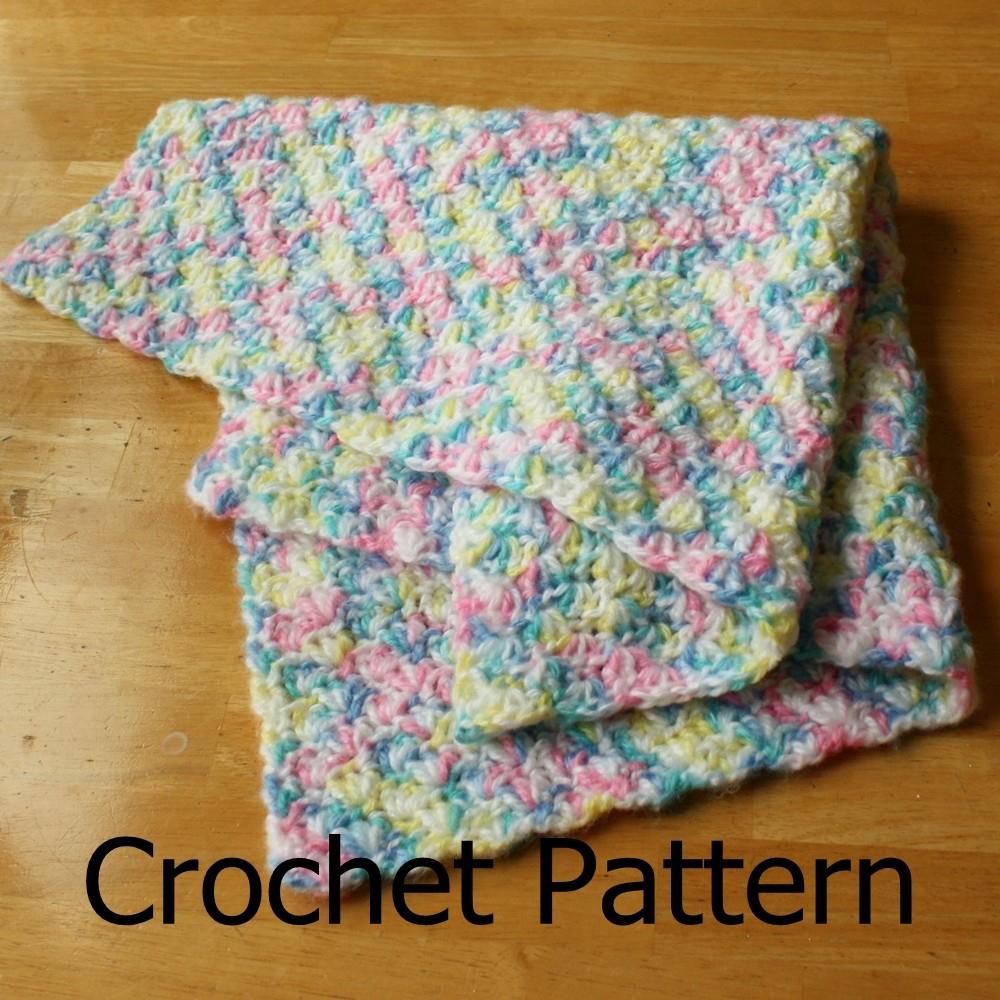 Begginer Crochet Projects Baby Blankets Crochet Ba Blanket Pattern Simple Shell Pattern Easy On Luulla