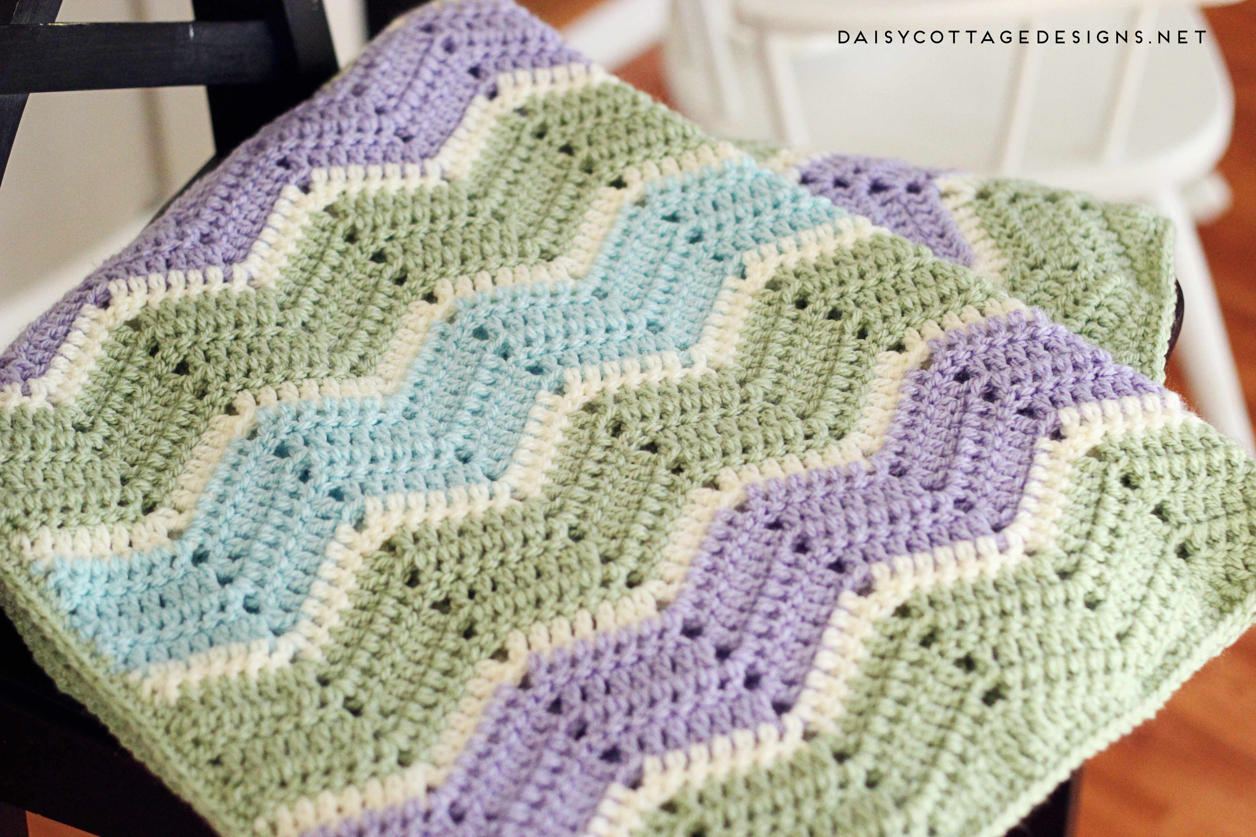 Begginer Crochet Projects Baby Blankets Easy Chevron Blanket Crochet Pattern Daisy Cottage Designs