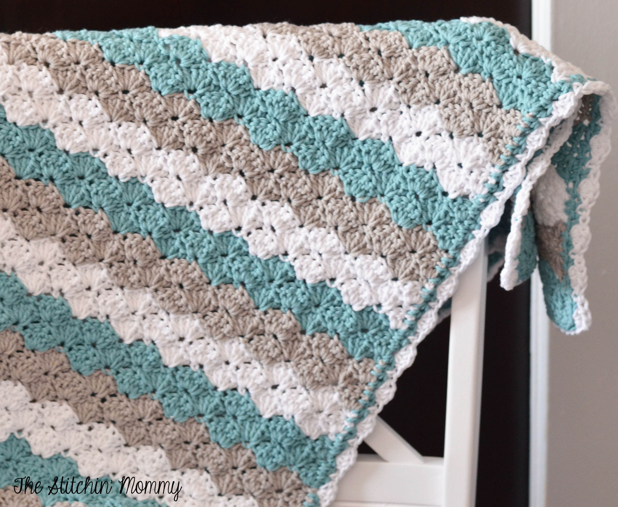 Begginer Crochet Projects Baby Blankets Shell Stitch Ba Blanket Free Pattern