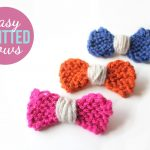 Begginer Knitting Projects Learning Easy Knitted Bows Lines Across