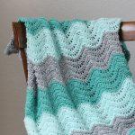 Beginner Crochet Projects Baby Blankets Crochet Feather And Fan Ba Blanket Free Pattern Persia Lou