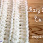 Beginner Crochet Projects Baby Blankets Easiest Fastest Crochet Blanket Ribbed Ridged Super Chunky