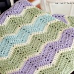 Beginner Crochet Projects Baby Blankets Easy Chevron Blanket Crochet Pattern Daisy Cottage Designs