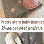 Beginner Crochet Projects Baby Blankets Free Easy Crochet Ba Blanket Pattern Grey With Stars Crochet News
