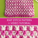 Color Knitting Patterns Beautiful How To Knit The 2 Color Linen Stitch Pattern With Video Tutorial
