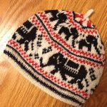 Colorwork Knitting Patterns Hats Free Knitting Pattern For Elephant Hat Child Sized Colorwork