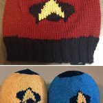 Colorwork Knitting Patterns Hats Free Knitting Pattern For To Boldly Go Hat Star Trek Inspired