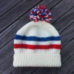 Colorwork Knitting Patterns Hats Free Knitting Pattern Sports Fan Hat Two Strands