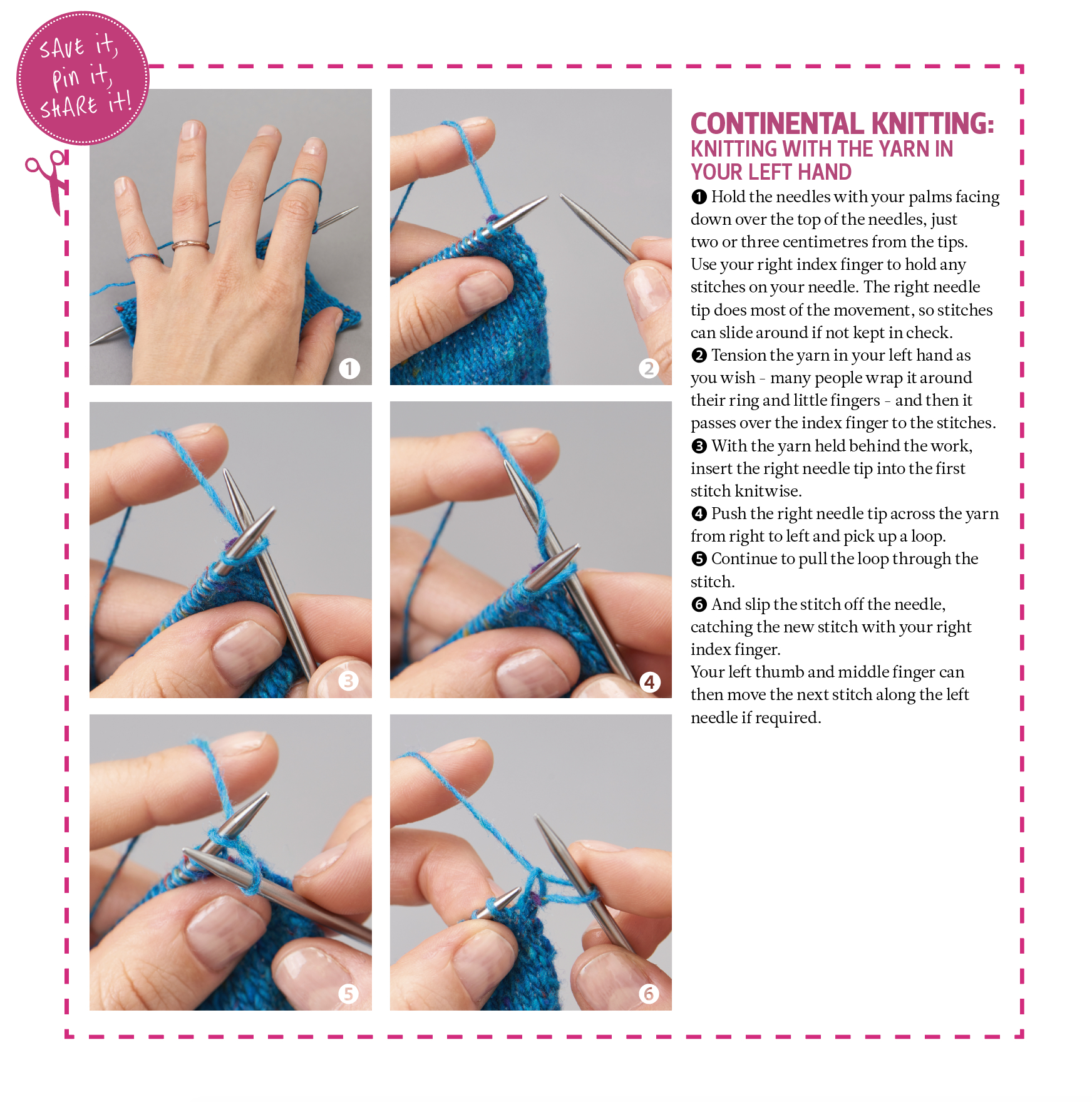Continental Knitting For Beginners Midweek Masterclass Continental Knitting The Yarn Loop