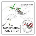 Continental Knitting Purl Techknitting The Continental Purl Stitch