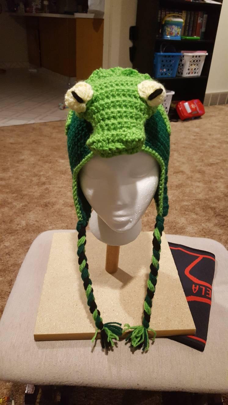 Crochet Alligator Hat Crochet Pattern For Alligator Or Crocodile Hat Etsy