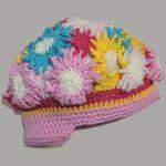 Crochet Alligator Hat Flower Power Hat Crochelina