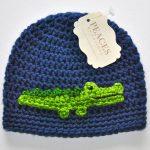 Crochet Alligator Hat Newborn Alligator Hat Navy Blue Alligator Or Crocodile Ba Hat