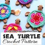 Crochet Applique Patterns Free Simple Adorable Crochet Sea Turtle Applique Pattern Ziyaret Edilecek