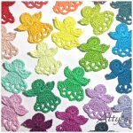 Crochet Applique Patterns Free Simple Christmas Angels Free Crochet Pattern Crochet Now