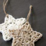 Crochet Applique Patterns Free Simple Crochet Stars Free Ornament Pattern Holiday Christmas