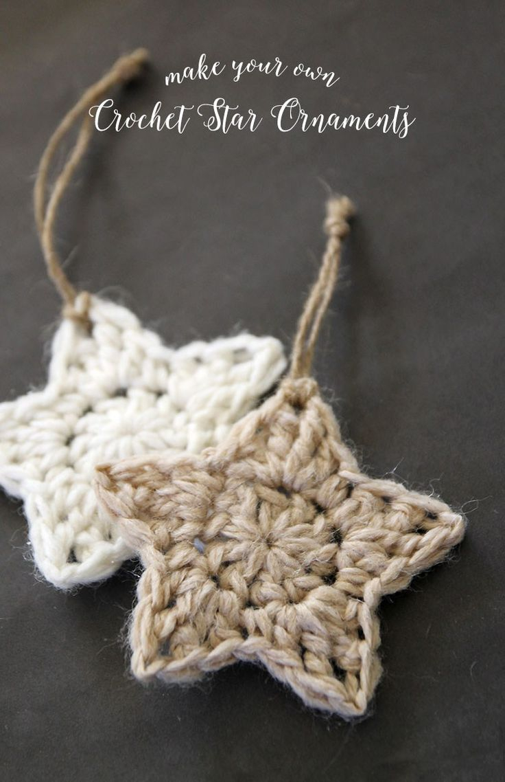 Crochet Applique Patterns Free Simple Crochet Stars Free Ornament Pattern Holiday Christmas