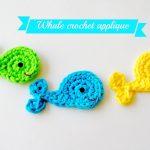 Crochet Applique Patterns Free Simple Easy Crochet Whale Applique Tutorial Free Pattern Youtube