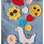 Crochet Applique Patterns Free Simple Free Crochet Pattern For Cute And Modern Applique Crochet Kingdom