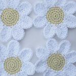 Crochet Applique Patterns Free Simple Free Patterns Beautiful Crocheted Daisy Coasters Crochet