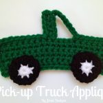 Crochet Applique Patterns Free Simple Jenni Designs Free Crochet Pattern Pick Up Truck Applique