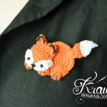 Crochet Applique Patterns Free Simple Krawka Fox Brooch Free Pattern