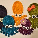Crochet Applique Patterns Free Simple The Sequin Turtle Basic Crochet Octopus Applique Pattern