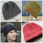 Crochet Beanies For Men 14 Mens Crochet Hat Patterns Simply Collectible Crochet
