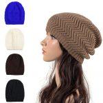 Crochet Beanies For Men 2019 Men Women Knitted Crochet Hat Winter Warm Stretch Slouchy