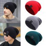 Crochet Beanies For Men 2019 Men Women Winter Beanies Cap Outdoor Slouchy Hat Crochet Ski