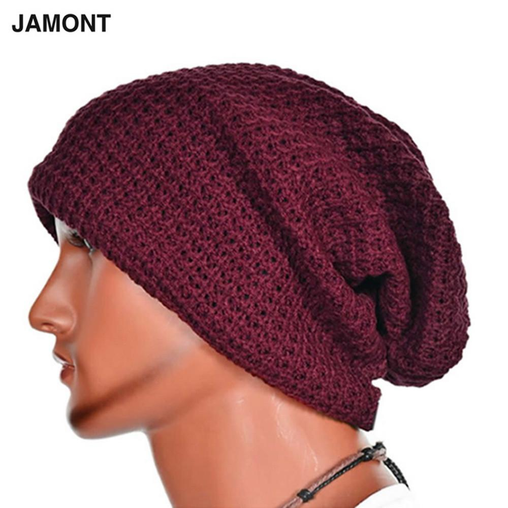 Crochet Beanies For Men Casual Chic Mens Loose Beanie Black Hat Caps New Winter Women Mens