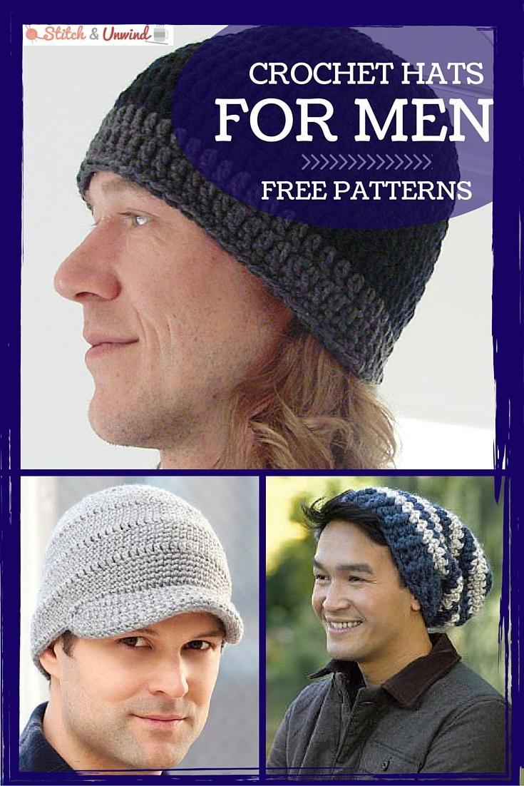 Crochet Beanies For Men Crochet Hats For Men Easy Crochet Patterns Stitch And Unwind