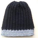 Crochet Beanies For Men Crochet Mens Ribbed Hat Youtube